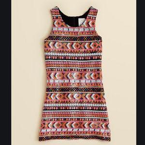 Ella Moss Girls' Renee Sequin Shift Dress